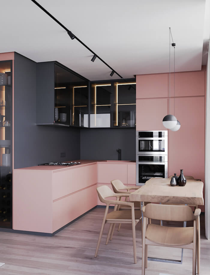 Tendencias decoracion 2019 colores rosa y negor