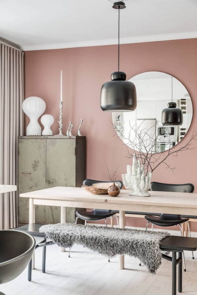 Tendencias en decoracion de interiores 2019 color rosa negro