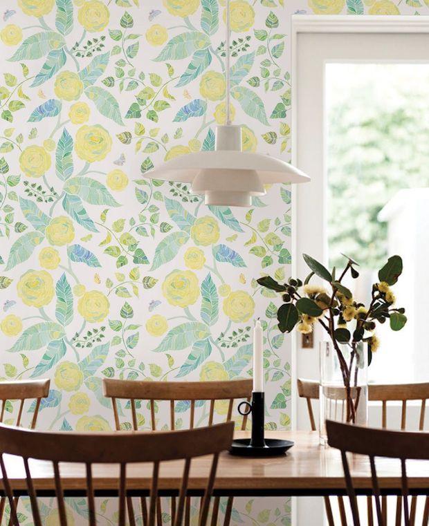Decoración casa en primavera papel pintado