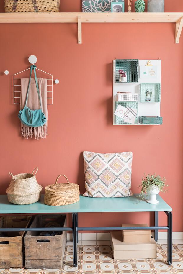 Estilos de recibidores para casas: colorista