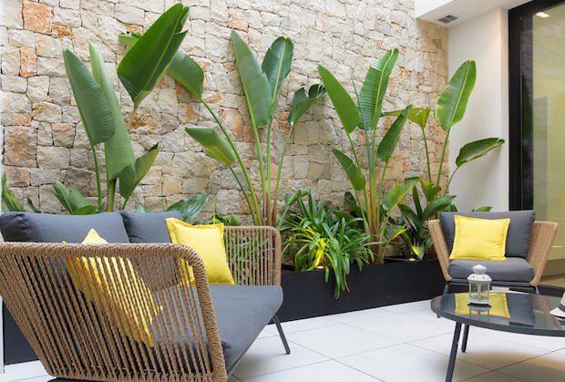 Muebles decoración exterior: sillas de cuerda