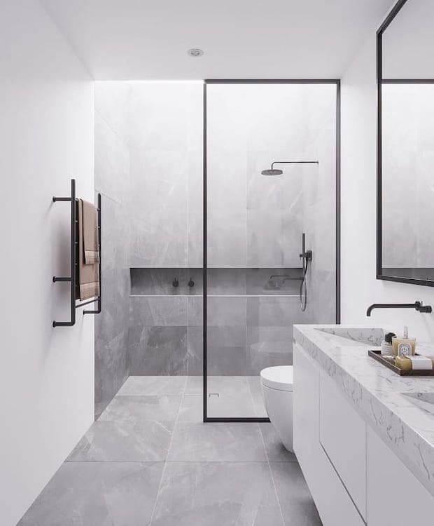 Cambiar el baño: toallero radiador