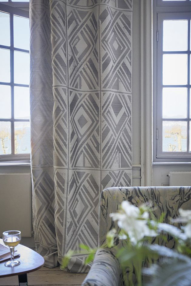 Textiles estampados geométricos