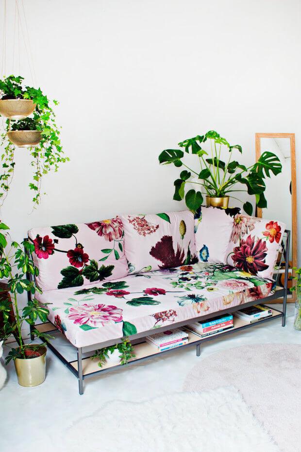 Textiles estampados flores