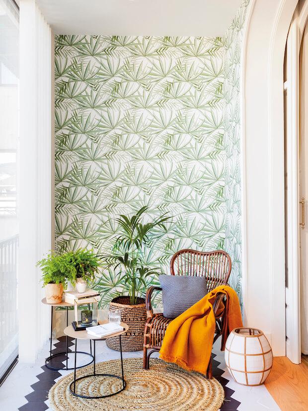 Decoración del hogar con motivos tropicales
