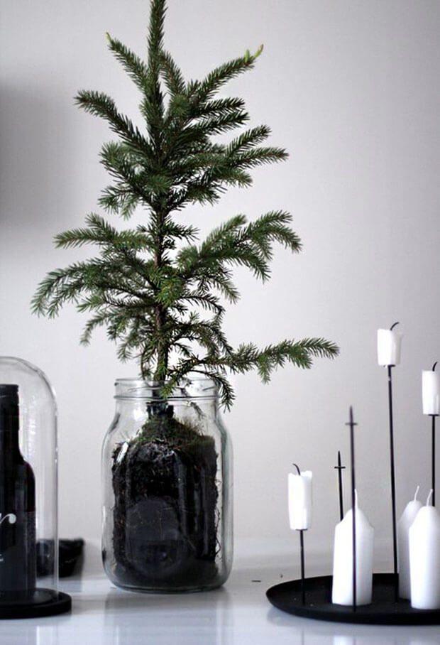 Arbolitos Navidad Blanco y Negro