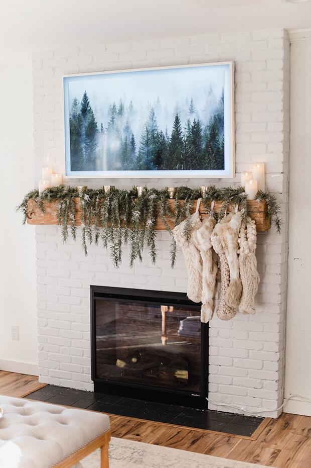 Decoración navideña con velas en clave arty
