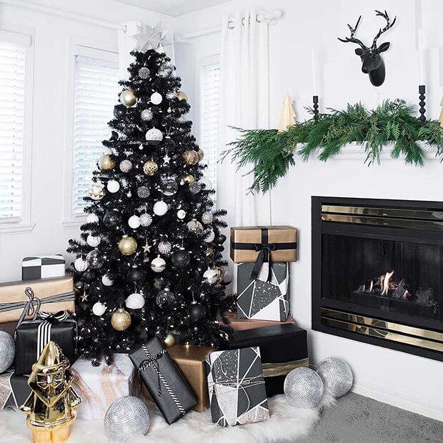 Árbol navidad blanco y negro