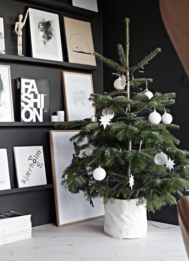 Tendencias decoración árboles de navidad 2019 minimalismo