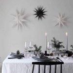 Tendencias decoración navidad 2019: mesas navideñas en blanco y negro