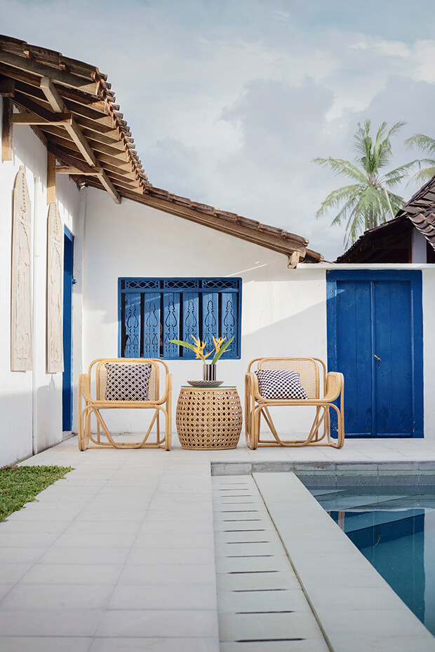 Decoración de exteriores con el color Pantone 2020 classic blue