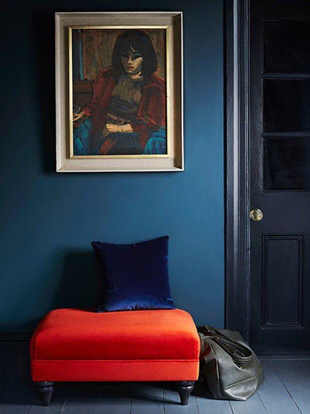 Como combinar el color caldera con azules