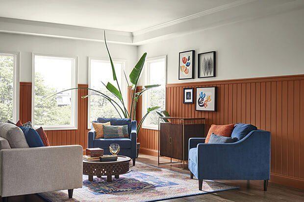 Combinaciones del color caldera en la decoración de interiores