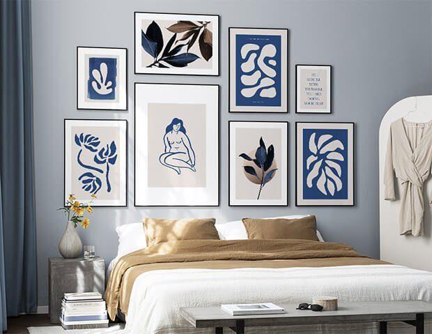 Cómo decorar con cuadros un dormitorio