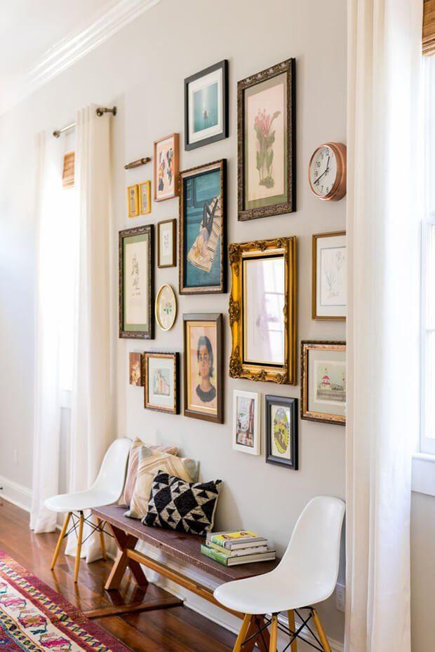 Cómo decorar con cuadros originales un pasillo largo con