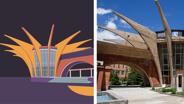 Ilustración de estructuras arquitectónicas