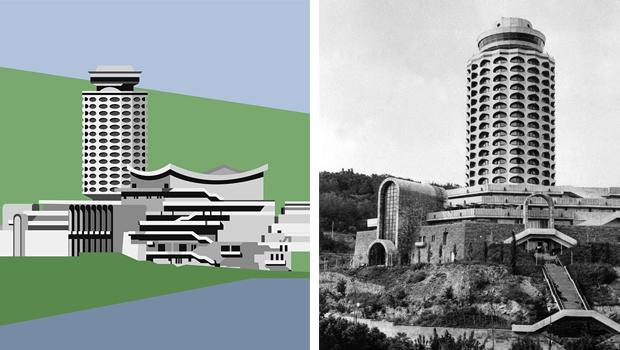 Ilustración alzado arquitectura