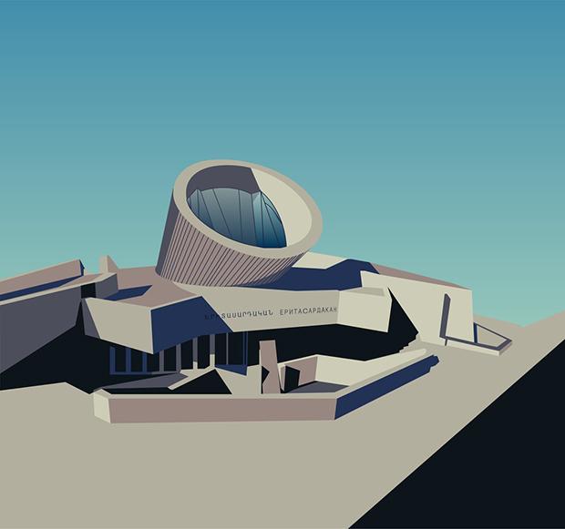 Nvard Yerkanian: Ilustración y arquitectura
