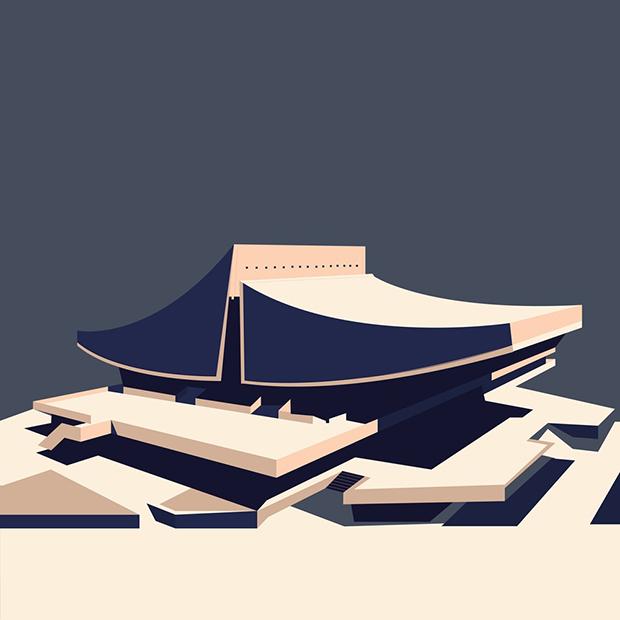 Arquitectura e ilustración: Nvard Yerkanian