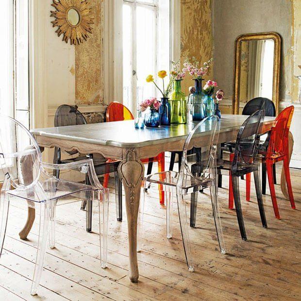 Muebles transparentes tendencias decoración verano 2020