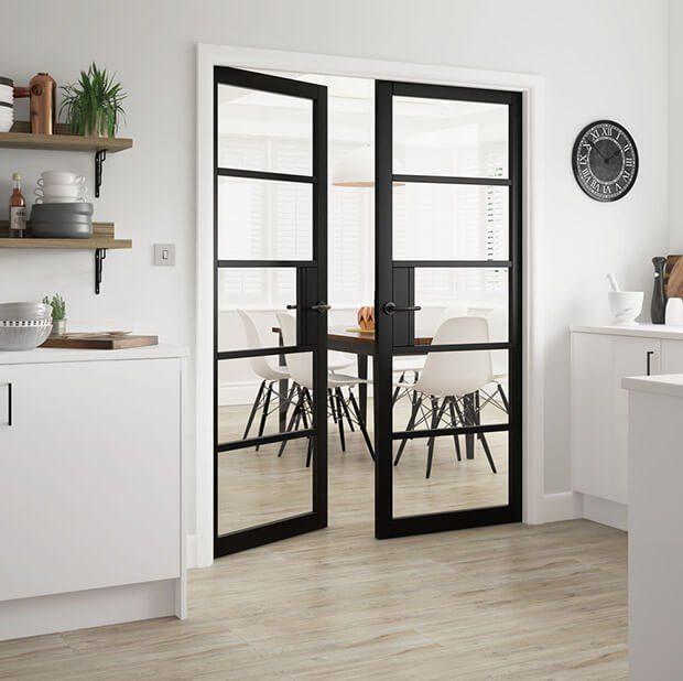 Puertas de interior de doble hoja con cristal