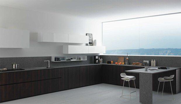 Cocinas modernas alargadas