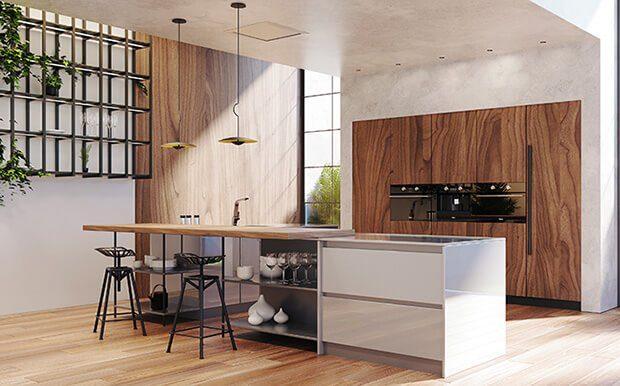 Cocina modernas con barra
