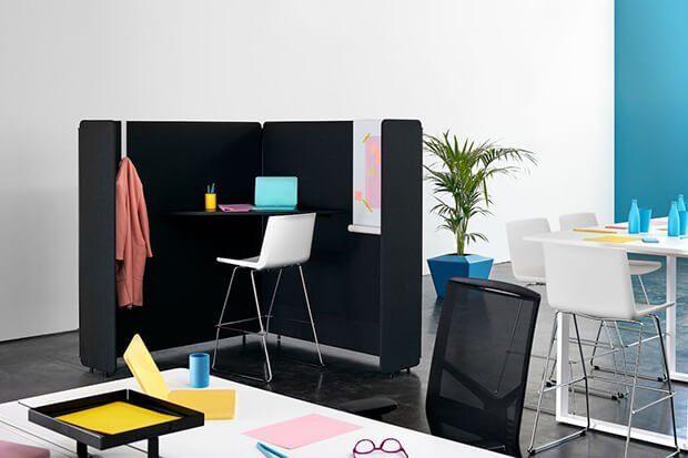 Separadores y mamampars en el diseño de oficinas frente al Covid-19